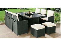 10 seater garden table and chairs