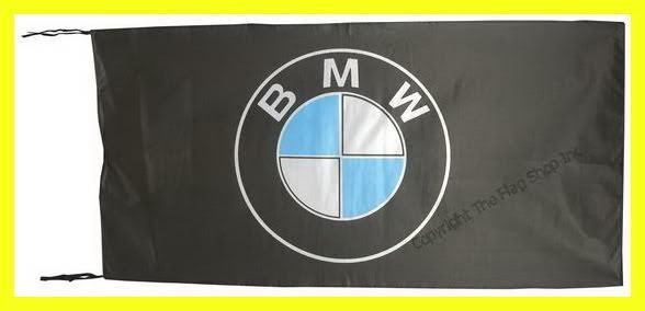 BMW FLAG BANNER  BLACK m3 m5 330 z4 z8 z3 x3 x5 5 X 2.45 FT 150 X 75 CM