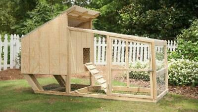 4x9 Chicken Coop Framing Plan Hen House With Runmaterialcut List