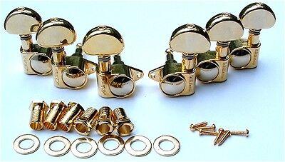 Rotomatic Tuning Machine - Guitar Tuner Tuning Machine Set WILKINSON ROTOMATIC Roto - 3 Per Side 3x3 - GOLD