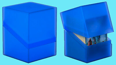 - ULTIMATE GUARD BOULDER SAPPHIRE Standard Size DECK CASE 100+ NEW Card Box MTG