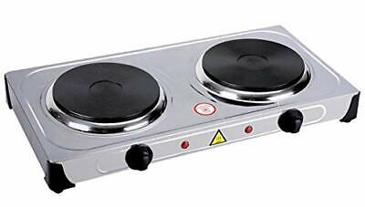 Stainless Steel Portable Electric Dual 2 Burner Hot Plate