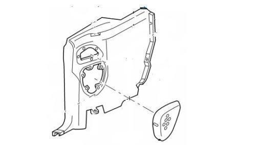 mustang convertible speaker