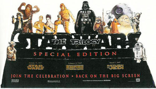 UNUSED Star Wars Trilogy 1997 Special Edition Drissi #6969 Theater Standee