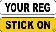 Stick on Number Plate