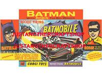 Corgi Toys 267 Batman Batmobile A4 Size Poster Advert Shop Sign Leaflet 1966