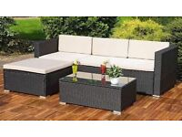 **FREE UK DELIVERY 1-3 DAYS** Corner Garden Conservatory Furniture Set with Coffee Table