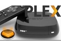Now TV box with 12 month connection to PLEX media server