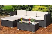 **FAST AND FREE UK DELIVERY** Corner Garden Conservatory Furniture Set with Coffee Table- BRAND NEW!