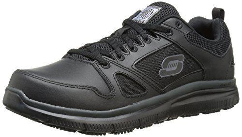 Skechers for Work Men's Athletic Shoe, Black, 9.5 M US 77040