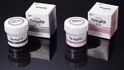 Meta Md Temp Dental Temporary Filling Material 40 Gram White Jar