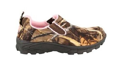 Duck Commander Realtree Max-4 Camouflage Pink Women's Quack-Up Camo Moc Size 9