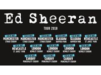 4x Ed Sheeran pitch standing tickets, Principality Stadium Cardiff, Saturday 23rd June 2018