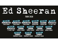 4x Ed Sheeran pitch standing tickets, Hampden Park Glasgow, Saturday 2nd June 2018