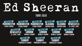 ** FACE VALUE** 1x Ed Sheeran pitch standing ticket, Wembley Stadium London, Friday 15th June 2018