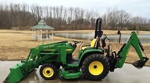 JOHN DEERE 4310 4X4 TRACTOR LOADER BACKHOE MOWER