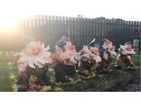5 garden gnomes
