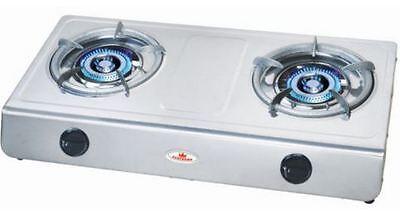 Double Wok Burner Cooker Stove LPG Gas Hose+Regulator 13.5 MJ Portable Benchtop  for sale  Shipping to Nigeria