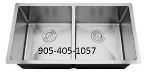 Bigger DOUBLE BOWL Stainless Steel Sink 34 x 19 x 10