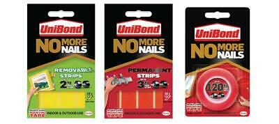 Unibond No More Nails Picture Hanging Strips Double Sided Mounting Tape Adhesive