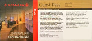 Maple Leaf Lounge Guest Pass valid until Feb. 28. $30 EACH