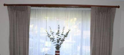 Timber CURTAIN ROD / PELMET For Drawstring Curtains