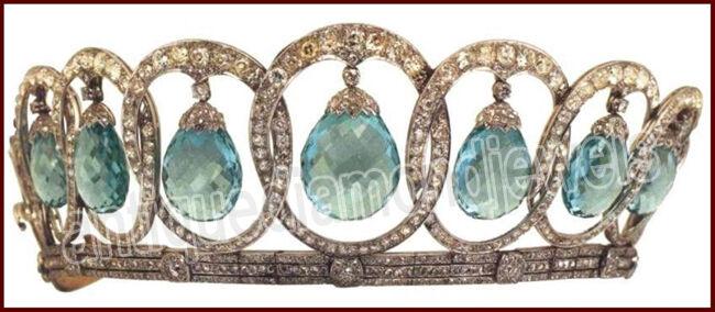 14.55ct Rose Cut Diamond Antique Look 925 Silver Wedding Topaz Gemstone Tiara