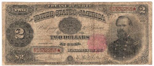 1891 $2 United States Treasury Note.  VG.  Y00003261