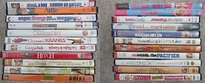 Variety of Movies on DVD - Mostly Romantic Comedies