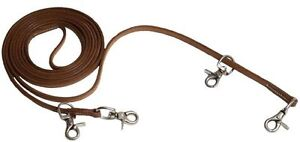 HARNESS-LEATHER-DRAW-REINS-TO-TRAIN-A-HORSE-ENGLISH-DRESSAGE-OR-WESTERN-SADDLE