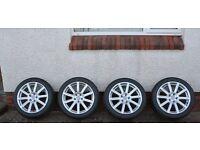 "Set of Genuine Audi 18"" alloy wheels & tyres"