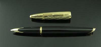Waterman, Carene Essential Fountain Pen, Black w/Gold Plated Cap