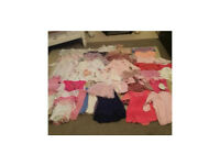 46 Piece Baby girl clothes bundle, aged 6-9 month, excellent condition