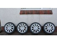 """4 Genuine Audi 18"""" alloys and tyres"""