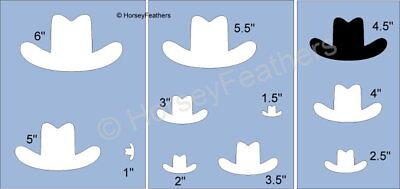 NEW-Cowboy Hat~Shapes STENCIL~DIY U Paint Rodeo Western Girl Ranch Farm   - Diy Cowboy Hat