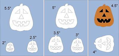 NEW-Pumpkin Face A~Shapes STENCIL~Halloween JOL Party Fall Jack DIY U Paint