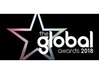 THE GLOBAL AWARDS 2018 - 2 X TICKETS AVAILABLE - BLOCK3