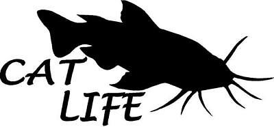 CAT LIFE with Catfish vinyl decal/sticker boat river fish fishing