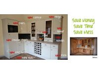 Transform the look of your kitchen with new doors and worktops.