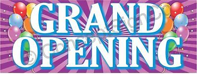 4x10 Grand Opening Banner Xl Outdoor Sign Sale Now Opens Coming Soon Balloons