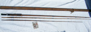 Old Fly Fishing Rod, Case, and Flies