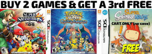 3DS/DS Games For Sale or Trade - Smash Bros, Pokemon + FREE GAME