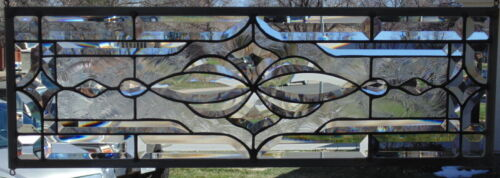 Stained Glass Transom window hanging  27 X 9 1/2