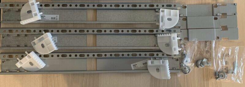 IKEA Besta wall mount suspension rail x 3   Entertainment & TV Units