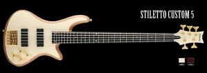 basse schecter stiletto diament 5 cordes  new