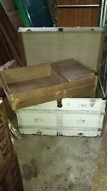 Large old Treasure Chest style travel trunk