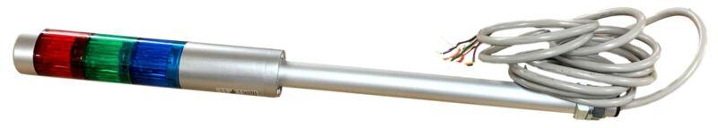 LR4-302LJNU-RGB, PATLITE, 40Mm 3-Tier, Ul Ce Ip65 Dc 24V Pole Mount/Cable