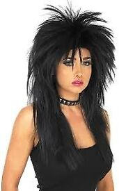 BLACK ROCKER OR PUNK FANCY DRESS WIG GREAT FOR A PARTY ALSO HAVE OUTFIT FOR SALE