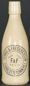 Ferris & Frederickson Charlottetown ginger beer bottle - Wanted