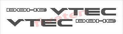 DOHC V-Tec VTEC Sticker Honda Civic Accord Engine K20 B18 B16 B20 250mm x 2 for sale  Torquay